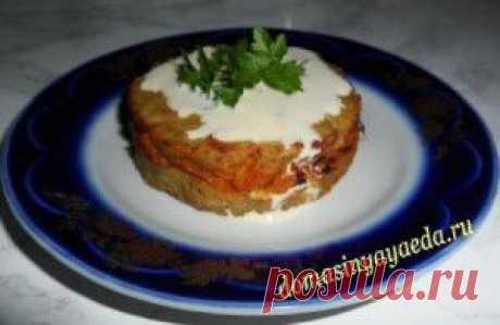 Картофельные зразы с капустой в духовке. | 4vkusa.ru