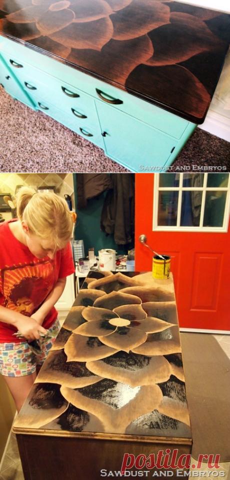 Оригинальный способ декорирования мебели — Сделай сам