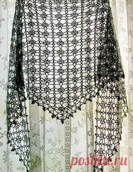 (37) Crochet Lace Shawl For Summer - Pattern …