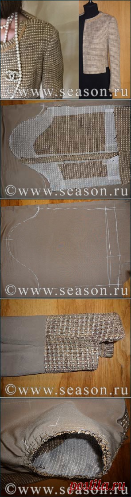 "Club of fans of sewing \""Season\"": Jacket sleeve lining"