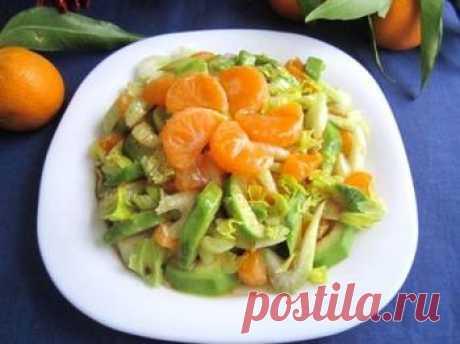 Салат из авокадо, сельдерея и мандарина → Рецепты → Zakaz.ua - Официальный интернет-магазин супермаркетов Киева