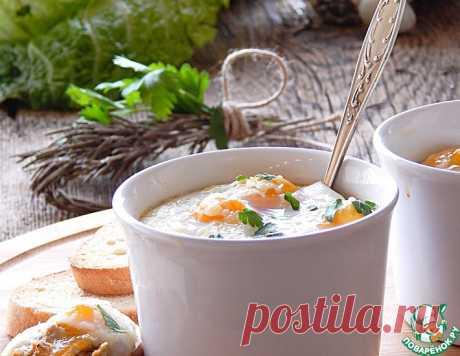 Грибное пюре с яйцами-кокот – кулинарный рецепт