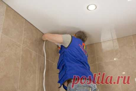 How to repair a stretch ceiling