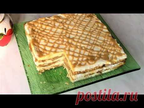 Как приготовить очень вкусный торт без выпечки. Яблочный торт.