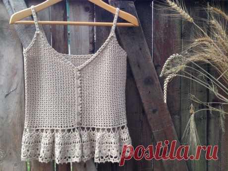 Summertime Vintage Crochet Top Pattern Crochet Tank Top | Etsy