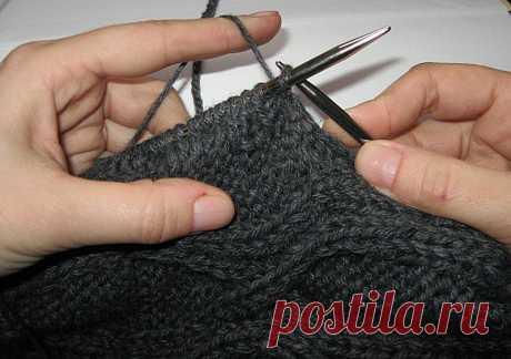 Вязание рукава сверху. МК от lar4ik71