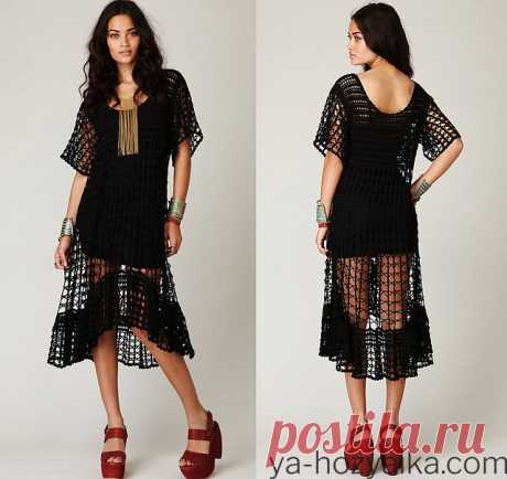 Связать платье от Free People. Модные модели платьев со схемами и описаниями