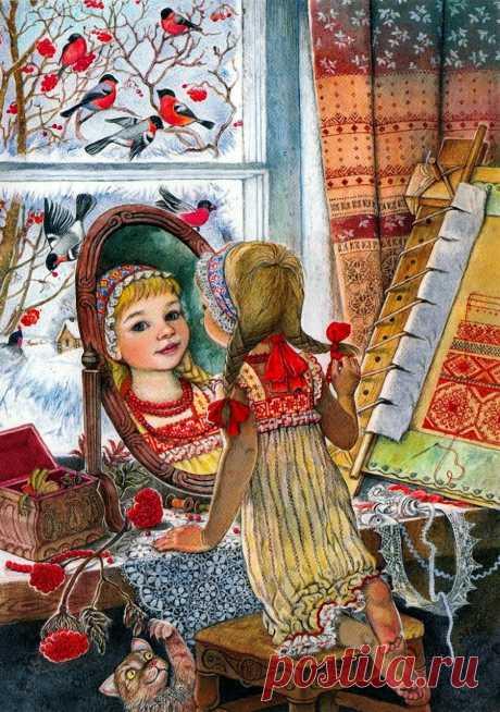 Добрый праздник Новый год... Художник-иллюстратор Ирина Егорова
