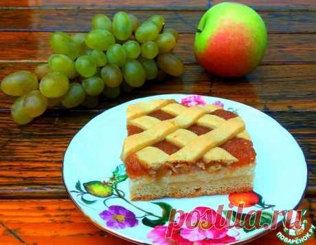 Пирог с творогом и яблоками – кулинарный рецепт