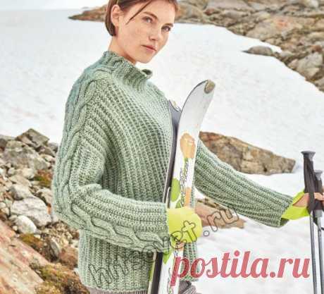 Вязаный свитер с косами Telsea - Хитсовет