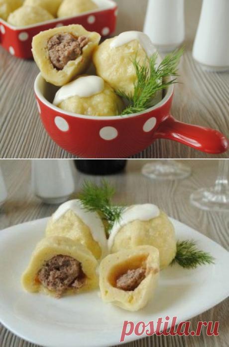 Картофельные клецки с мясом - любимое блюдо в Германии   Четыре вкуса