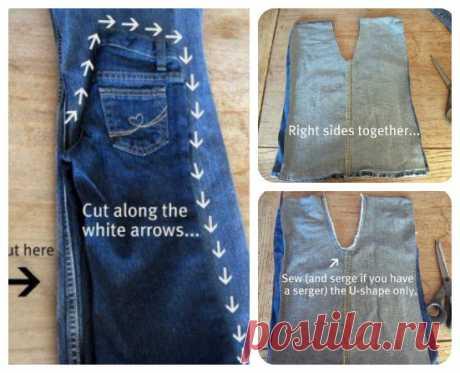 Детские джинсы из старых маминых . Милая Я