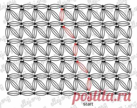 Снуд узором Звездочки | Crochet by Ellej | Вязание крючком от Елены Кожухарь