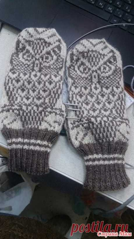 Nattugla\/Night Owl Mittens mittens of the designer of Jorid Linvik - Knitting - the Country of Mothers