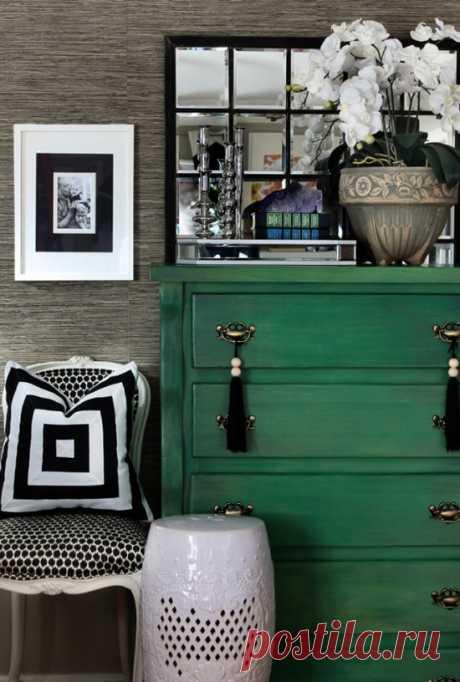 Использование изумрудного цвета в доме — Pro ремонт