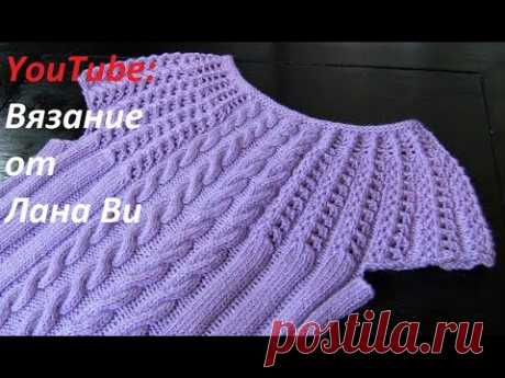 Knitting by spokes: the description of a top\/jacket - 2 MK. A knitted summer top \/ jacket spokes with the coquette