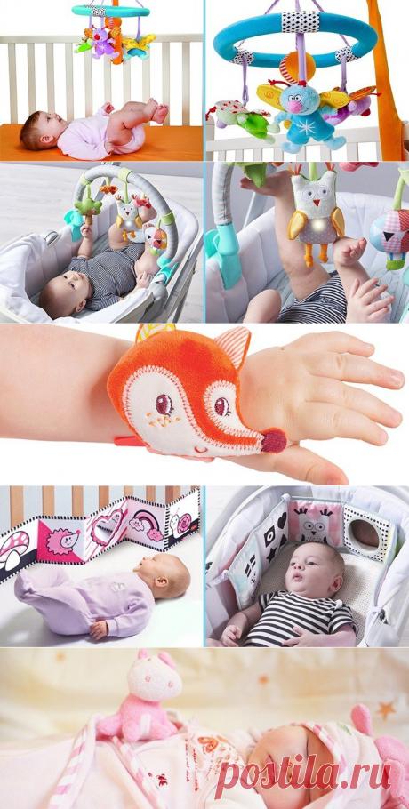 РАЗВИВАЮЩИЕ ИГРУШКИ ДЛЯ НОВОРОЖДЕННЫХ — какие игрушки нужны ребенку в 1 месяц