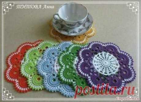Подставки под чашку - Вязание (схемы на все модели)