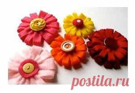 Цветы из фетра / Цветы из ткани / PassionForum - мастер-классы по рукоделию