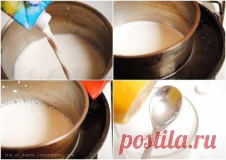 Как приготовить домашний сыр маскарпоне  - рецепт, ингредиенты и фотографии