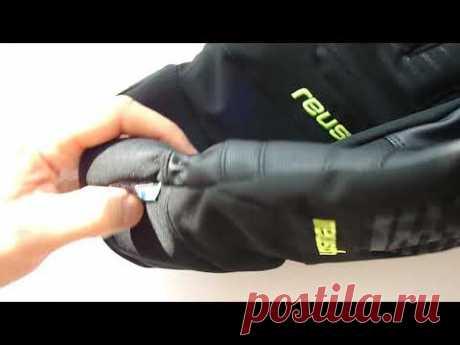Горнолыжные перчатки Reusch Sportif Softshell R-TEX XT (черные с черными полосками) 1050грн