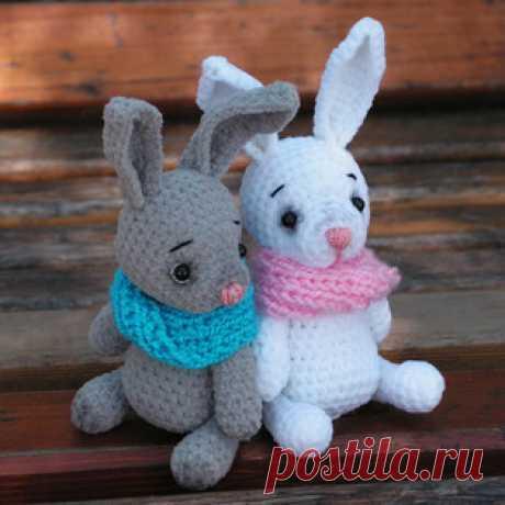 Зайка и Мишка амигуруми.