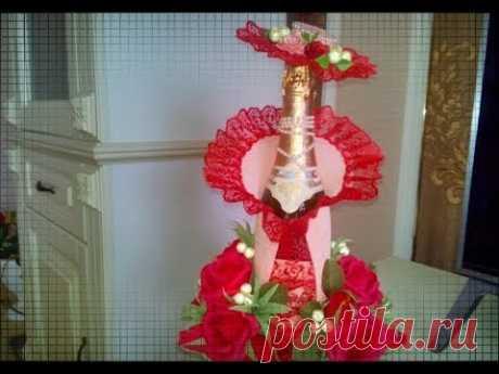 ну ОООЧЕНЬ КРАСИВОЕ оформление шампанского на 8 марта и 23 февраля #AlesyaGor#оформлениебутылкишампанского #цветыизбумаги#подарокмамена8мартаDIY Всем привет! Мастер Класс как очень оригинально оформить бутылку шампанского на...