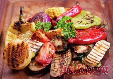 Как готовить овощи на углях