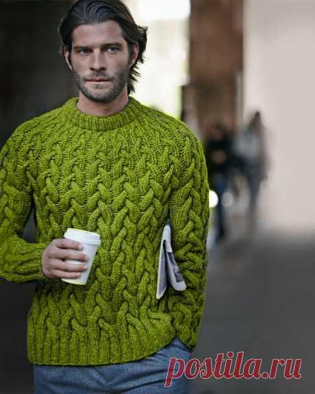 Men's Hand Knit Crewneck Sweater 209B – KnitWearMasters