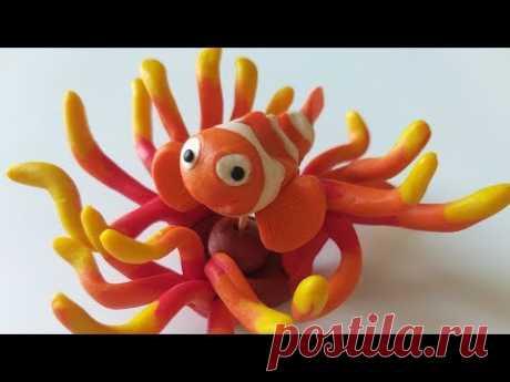 Лепим Рыбку-Клоуна из пластилина или полимерной глины.