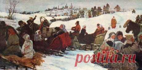 Зимние праздники на Руси в живописи