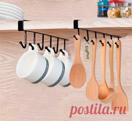10 лайфхаков для организации хранения в кухонных шкафчиках / Домоседы