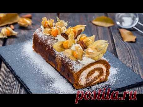 Caramel Pecan Pumpkin Roll