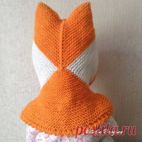 Children's hat the Young fox spokes in equipment a patchwork. Description (Knitting by spokes) \/ Knitting