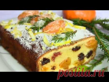 The Christmas cake with tangerines