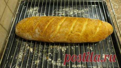 Хлеб домашний пшеничный - печем большой батон.   Моя кулинарная книга   Яндекс Дзен