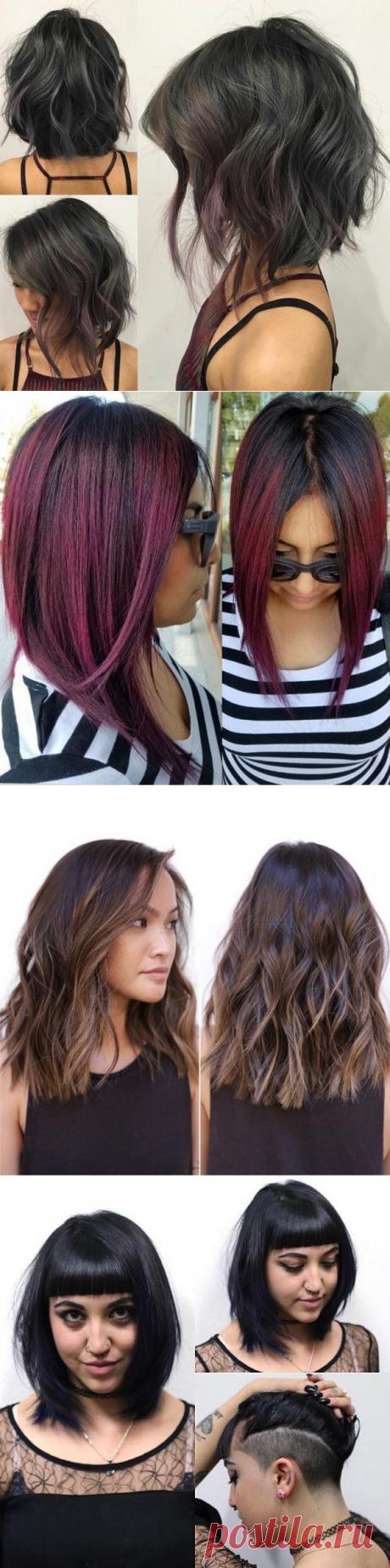 Модные женские стрижки для средних волос 2017-2018 – фото и виды стрижек на средние волосы
