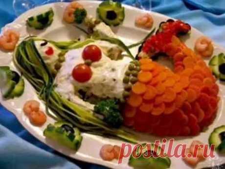 Как украсить салат. 50 красивых вариантов - YouTube