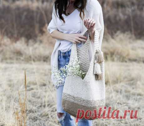 Mohave Slouchy Tote Bag Knitting Pattern – Mama In A Stitch