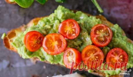 Бутерброды с намазкой из авокадо - пошаговый кулинарный рецепт с фото на Повар.ру