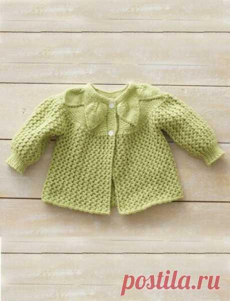 Кофточка для малыша спицами с круглой кокеткой | Моё хобби.Вязание для детей. | Яндекс Дзен