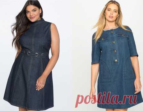 Джинсовые платья для полных: на что обратить внимание, чтобы выглядеть стройнее | Будь в стиле! | Яндекс Дзен
