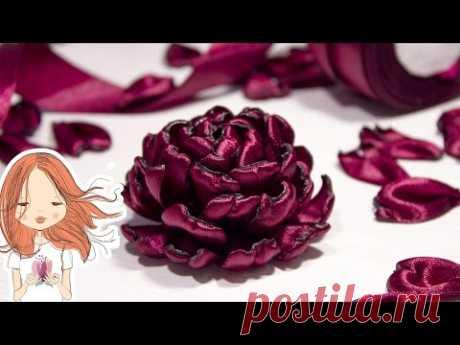 Flowers from satin ribbons | Anastasia Kulikova