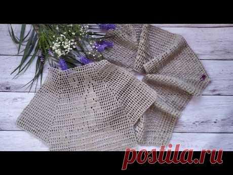 Платье крючком. Филейное вязание. Часть1. Обзор, вяжем кокетку.