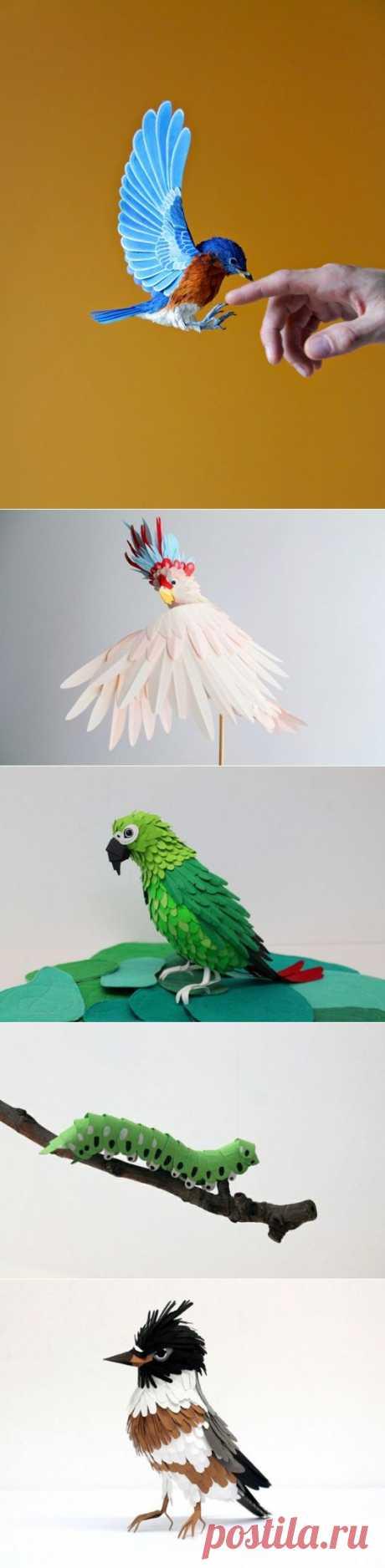 Скульптуры из бумаги от художницы Diana Beltran Herrera