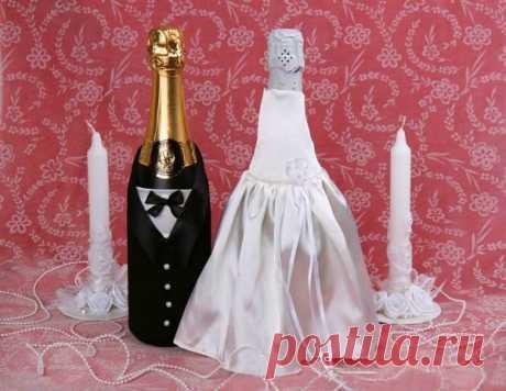 «Классическое оформление шампанского на свадьбу » — карточка пользователя tanya.ionko в Яндекс.Коллекциях