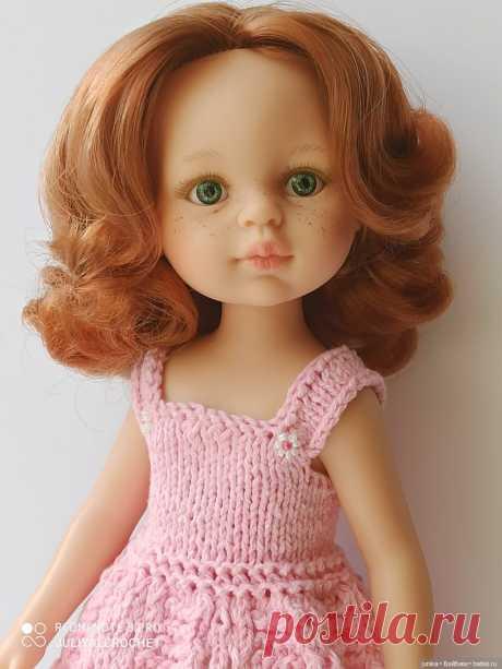 """МК сарафанчика """"Нежность"""" для Паолок спицами / Вязание для кукол / Бэйбики. Куклы фото. Одежда для кукол"""