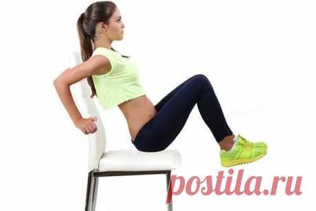 7 упражнений для обвисшего живота, которые можно делать сидя на стуле! | Женские заметки