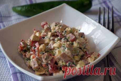 Салат из перца с ветчиной и сыром рецепт с фотографиями