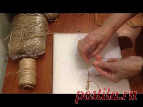 (1) Плетение салфеточки по кругу. Шаг 1. Наборный ряд - YouTube